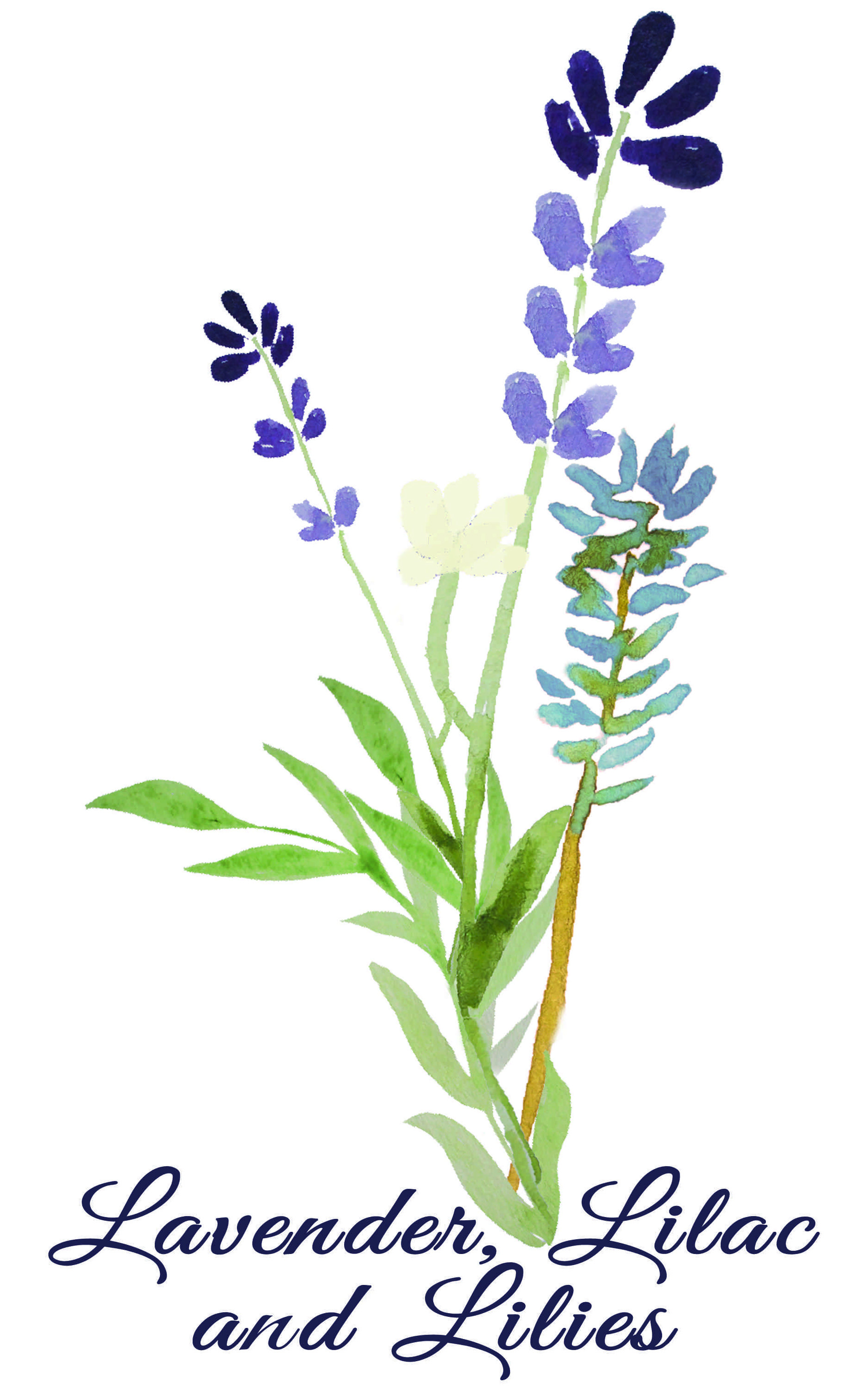 Lavender, Lilac and Lilies Logo